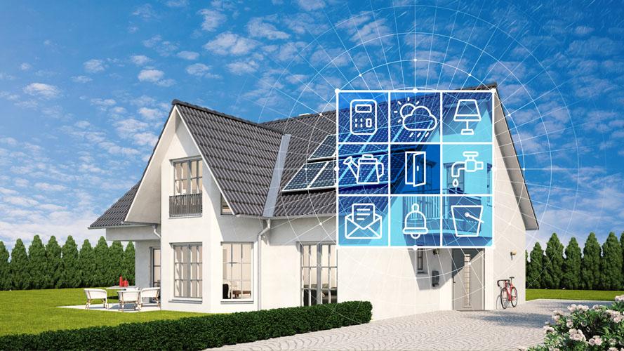 Haus und Garten mit Smart Home Technologie